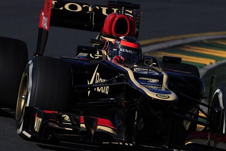 Kimi Räikkönen, su Lotus E21, ha trionfato nel Gran Premio di Australia sul circuito di Albert Park a Melbourne