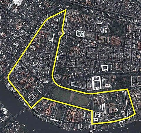 Nella foto il layout del circuito di Bangkok, approvato questa settimana