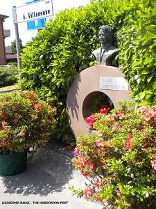 Il monumento alla memoria di Villeneuve a Fiorano (Modena)