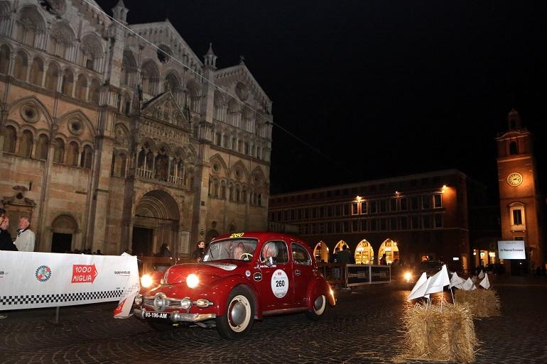 L'arrivo della Mille Miglia a Ferrara