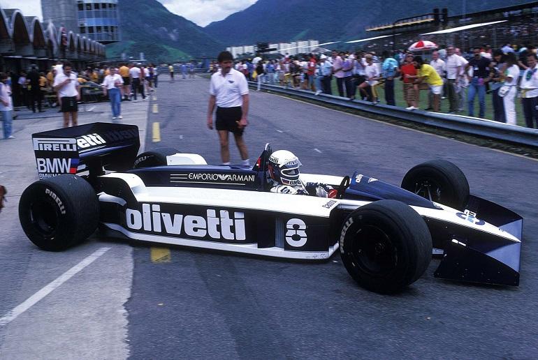 Elio De Angelis dulla Brabham BT55 nel 1986