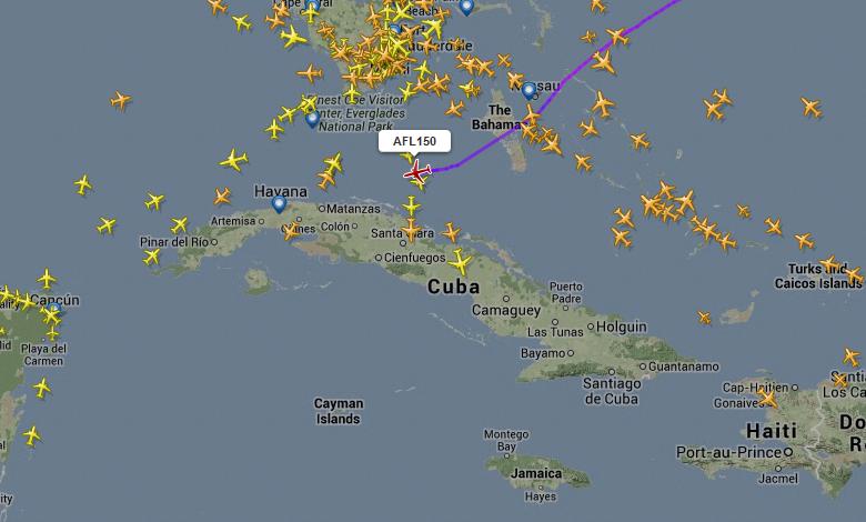 Edward Snowden è sul volo AFL 150 in atterraggio all'Avana? Fra meno di un0ora il mistero potrebbe essere risolto.