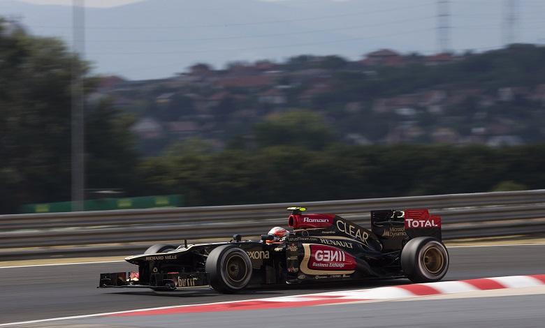 Romain Grosjean sulla Lotus E21 Renault (Photo: Andrew Ferraro/Lotus F1 Team)