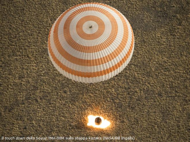 Expedition 36 Soyuz TMA-08M Landing
