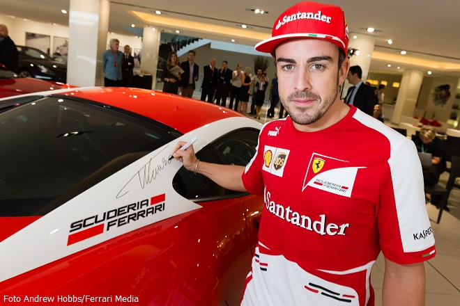 Ferrari Australia with Fernando Alonso at Zagame 14 March 2013