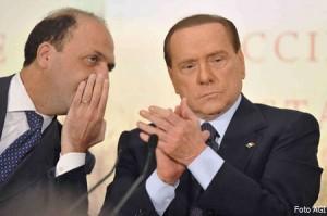 Angelino Alfano e Silvio Berlusconi