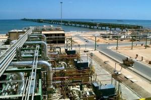 Il terminale di Mellitah del gasdotto Greenstream in Libia