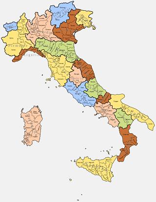 Italia, Regioni e Province