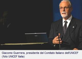 Giacomo Guerrera, presidente del Comitato Italiano dell'UNICEF