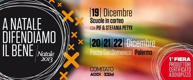 """A Natale difendiamo il bene. A Palermo la """"Prima fiera dei produttori con certificato Addiopizzo"""""""
