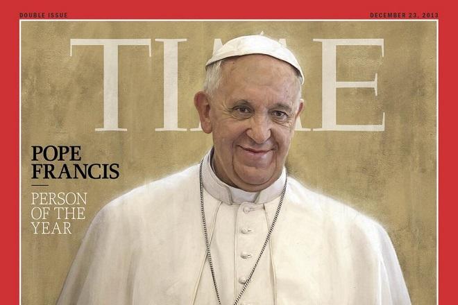 """Papa Francesco è """"Persona dell'anno di Time 2013"""""""