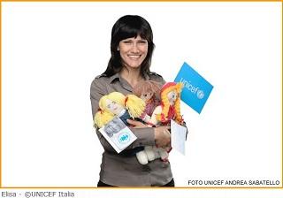 La cantante Elisa, testimonial di UNICEF ITALIA per la promozione della Pigotta