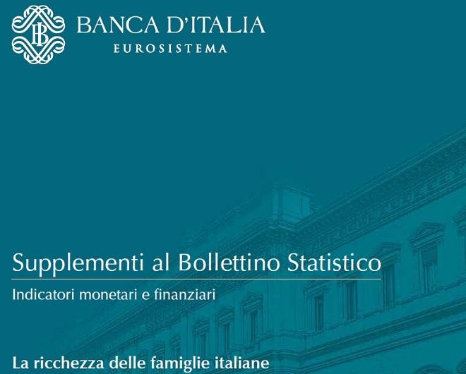 """Bollettino statistico di Banca d'Italia"""", 'La ricchezza delle famiglie italiane 2012"""