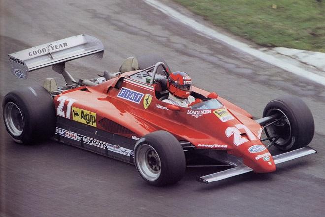 Gilles Villeneuve, sulla Ferrari 126 C2 con il mitico numero 27