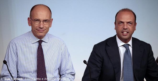 """I """"Due Consoli"""" Enrico Letta e Angelino Alfano"""