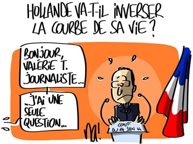 Buongiorno, Valérie T. Una sola domanda... (Vignetta di BFM-TV)