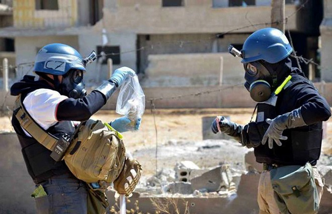 Mideast Syria Securing The Chemicals
