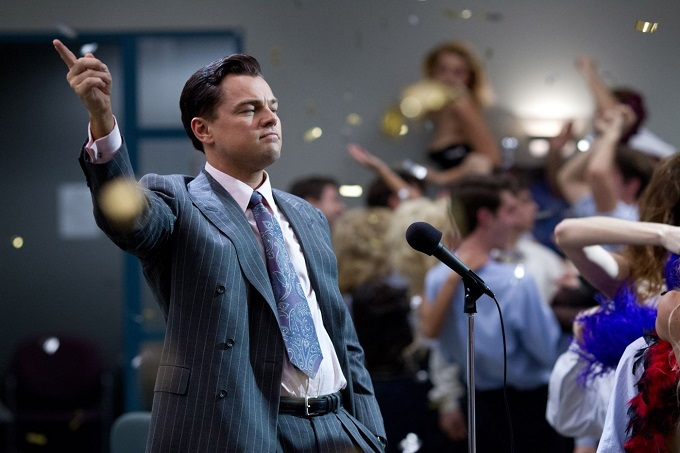 Leonardo DiCaprio in The Wolf of Wall Street, di Martin Scorsese. Dal 23 gennaio al cinema