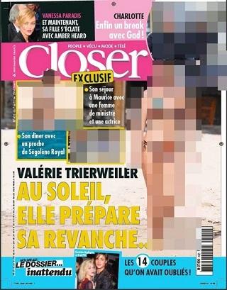 La copertina di Closer con le foto di Velérie Trierweiler