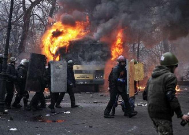 Escalation a Kiev (foto TMNews)