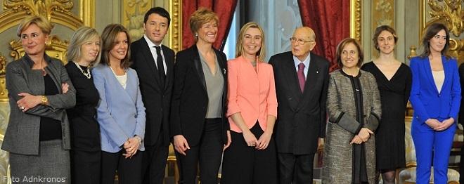 La squadra delle donne al Governo della Repubblica Italiana: un record di parità di genere
