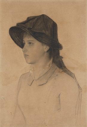 Hermine Klimt, 1881, Gessetto nero, cm 40,6x30,5. Collezione privata © Alfred Weidinge