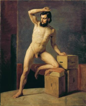 Nudo maschile, 1883 circa, olio su tela, cm 68x54,8, Vienna. Belvedere © Belvedere, Vienna