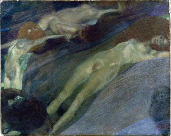 Gustav Klimt, Acqua in movimento, 1898, Olio su tela, cm 52 x 65 Collezione privata (courtesy Galerie St. Etienne, New York) © Galerie St. Etienne, New York