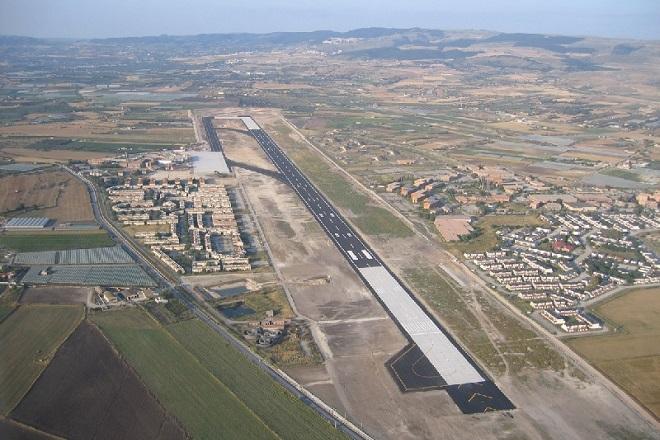 L'aeroporto di Comiso visto dall'alto