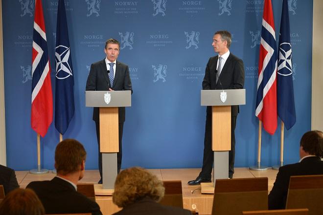 Anders Fogh Rasmussen e l'allora Primo Ministro norvegese Jens Stoltenberg: presente e futuro della guida dell'Alleanza Atlantica
