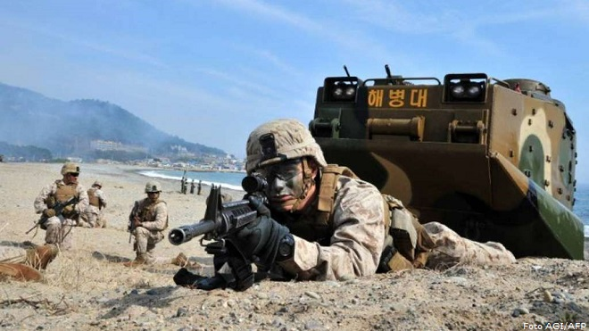 20140331-Nord-Corea-e-Sud-Corea-artiglieria-Afp-AGI-660x371