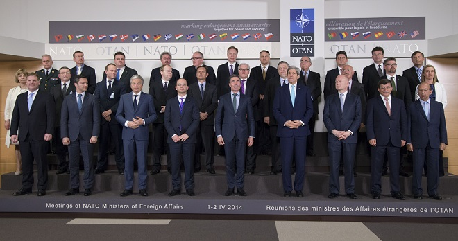 Meetings of the Foreign Ministers at NATO Headquarters in Brussels - Ceremony to Mark the NATO Enlargement Anniversaries