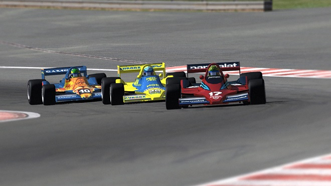 Un momento convulso dei test in vista del GP di Bruxelles di Formula Europa (Foto LaPressti)