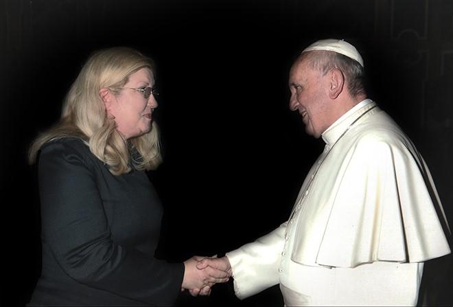 La regista Liliana Marabini, ideatrice dell'International Catholic Film Festival di Roma