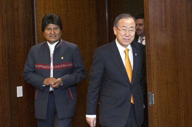 UN SG Meets President of Bolivia