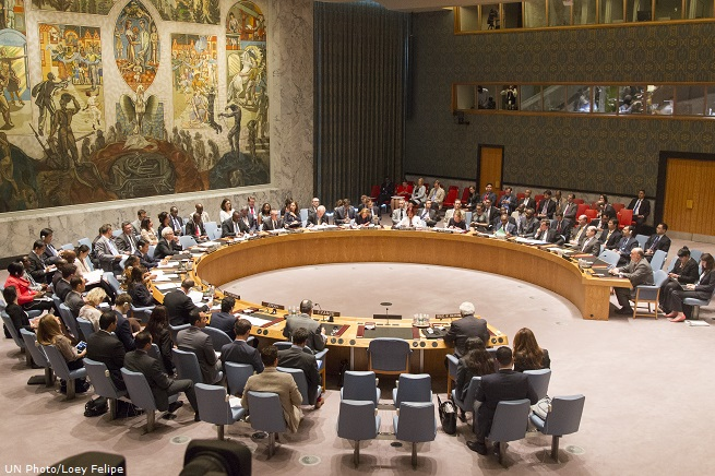 Security Council Meeting The situation in the Middle East, including the Palestinian question