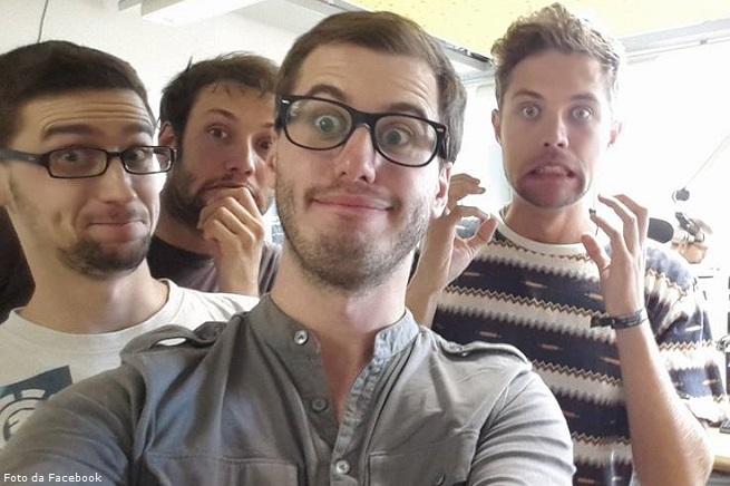 Julian, Andreas, Peter e Yannik, animatori dell'associazione be japy.eV