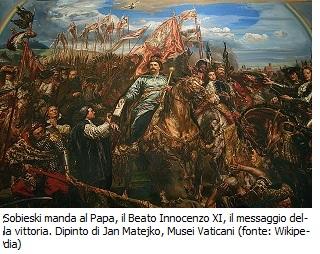 Sobieski manda al Papa il messaggio della vittoria dipinto di Jan Matejko
