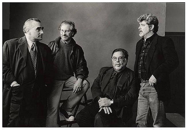 Da sinistra, Martin Scorsese, Steven Spielberg, Francis Ford Coppola e George Lucas