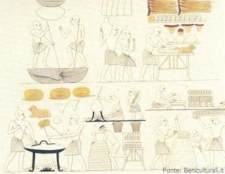 Tomba di Ramesse III. La panificazione (Beniculturali.it)