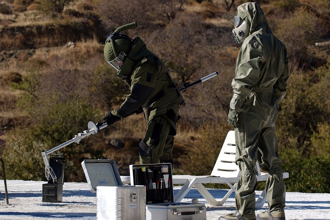 Esercitazione CBRND, Chemical, Biological, Radiological and Nuclear Defense (Foto NATO)