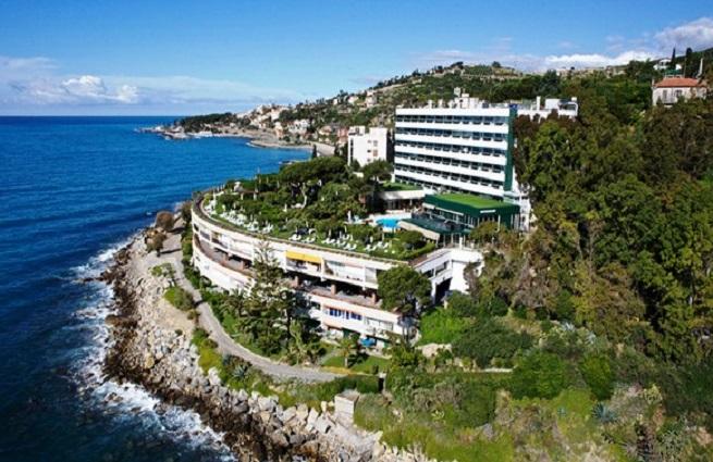 Il Grand Hotel del Mare di Bordighera, dove alloggiava Natalia Sotnikova con il compagno e il piccolo di 10 mesi, ucciso in mare a Bussana nei pressi di Sanremo