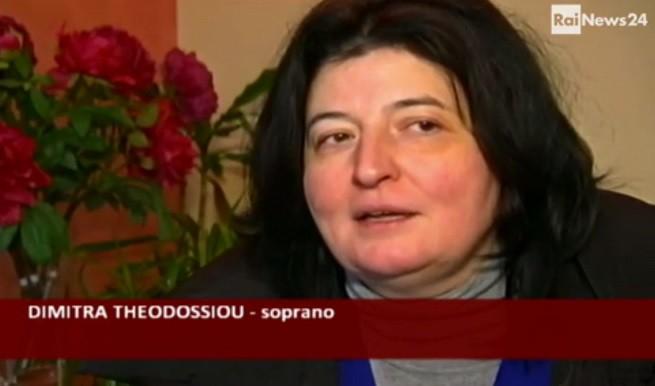 La soprano greco Dimitra Theodossiou intervistata da RaiNews24