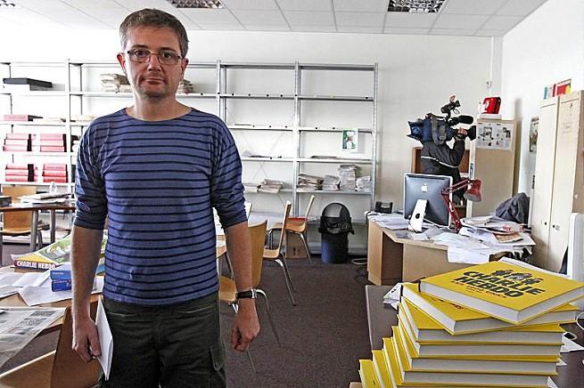 Stéphane Charbonnier, detto Charb, direttore di Charlie Hebdo ucciso questa mattina nell'attacco islamista di questa mattina
