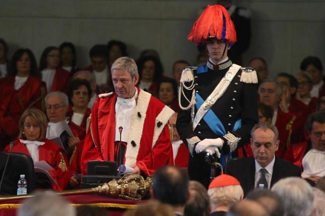 Il presidente della Corte d'Appello di Milano, Giovanni Canzio, e il vice-presidente del Consiglio Superiore della Magistratura, Giovanni Legnini
