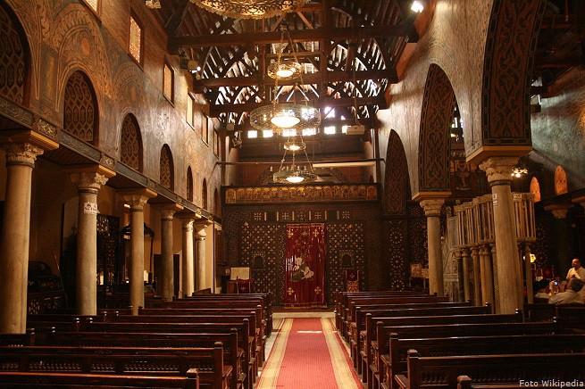 Interno della Chiesa della Sospensione, al Cairo, una delle più antiche chiese copte d'Egitto