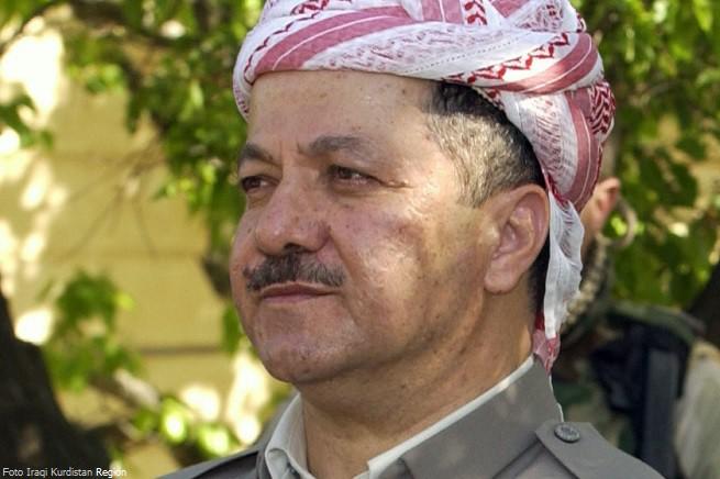 Il presidente della Regione Autonoma del Kurdistan Iracheno, Masoud Barzani