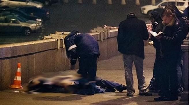 Il luogo dell'agguato a Boris Nemtsov, leader della destra liberale russa e oppositore di Vladimir Putin