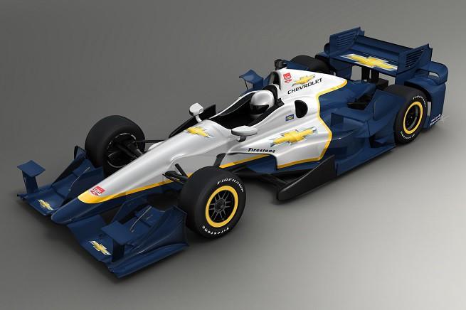 Chevrolet-powered racecars in the 2015 Verizon IndyCar Series wi