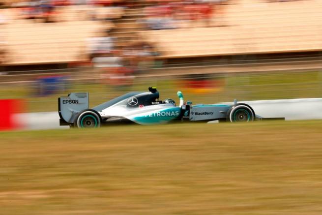 Nico Rosberg, prima vittoria nel 2015 in Spagna (foto Mercedes AMG F1)